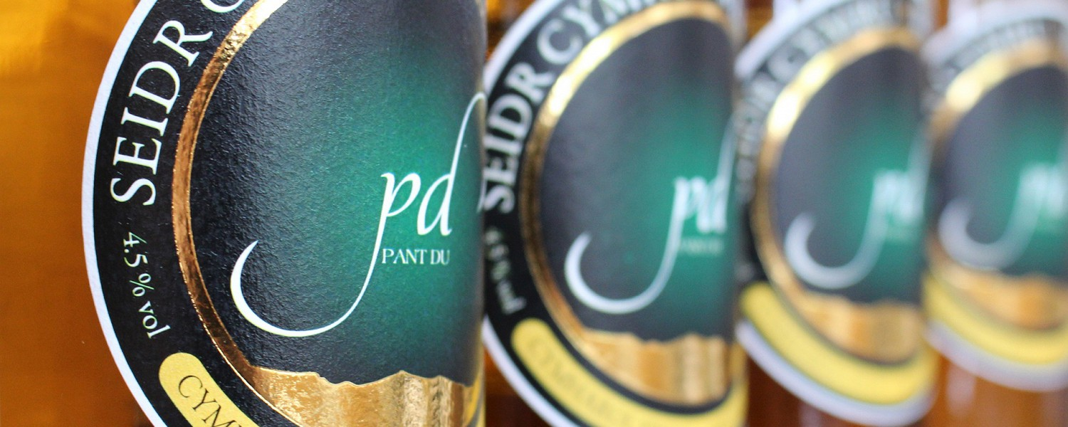 Local Cider available at Pant Du